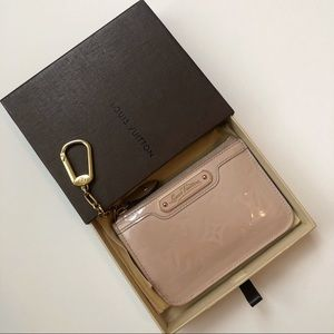 Louis Vuitton Blush Pink Vernis Wallet Chain
